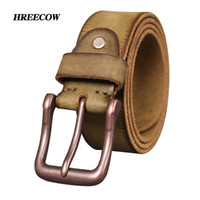 hebilla vieja al por mayor-Brand Top Cow Cinturones de cuero genuino para hombres Jeans Belt Do Old Designer Pin Buckle Retro Vintage Mens Cowboy Belt masculino Ceinture Q190417