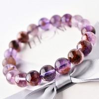 ingrosso cristalli violacei-Purple Phantom Bracelet 9mm Alien Thousand Layer Gathering Ricchezza Phantom Man Crystal String String