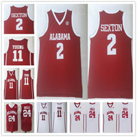 85972e73b866 Men s Ncaa College Trae Young Jerseys 11 Oklahoma Sooners Basketball shirts  Collin Sexton 2 Buddy Heild 24 Team Color Red White University