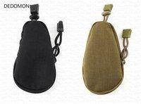 pequenos sacos de nylon venda por atacado-Mini tático saco pequeno dinheiro saco chave bolsa bolsa de nylon com cordão encerramento