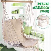Wholesale deluxe hammock resale online - Nordic Style Deluxe Hammock Outdoor Indoor Garden Dormitory Bedroom Hanging Chair For Child Adult Swinging Single Safety Chair SH190924