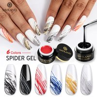 Wholesale lacquer painting resale online - Saviland Spider Wire Drawing Nail Gel Lacquer Painting Gel Varnish Pulling Silk Phototherapy Nail Art Polish