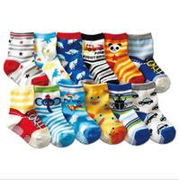 calcetines de niño recién nacido al por mayor-INS Calcetines para niños Calcetines de bebé de dibujos animados Calcetines de algodón para recién nacidos Calientapiés para bebés Panda Panda Impreso DHW1951