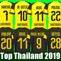 Camiseta de fútbol de fútbol australiano Borussia Dortmund 201 201 PHILIPP  GOTZE REUS PULISIC WITSEL Jersey 18 19 PACO ALCACER Kit de fútbol camiseta  de ... 312a1fe7f3fdf