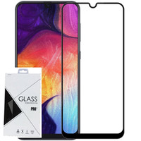 Wholesale colorful tempered glasses online - For Samsung Galaxy A30 A50 A8S A9S A9 H Full Cover Colorful Tempered Glass Screen Protector Silk Print in retail package
