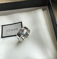 diseños geniales para hombres al por mayor-Diseño de marca Real 925 anillos de plata esterlina vintage para mujeres hombres amantes punk moda joyería fresca cráneo gg anillo Bijoux regalos