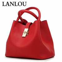Wholesale candy buckets red resale online - LAN LOU New Women bag Shoulder Bags Famous Brand Candy Handbags Female Woman Bag ladies Crossbody buckets Messenger Bags Y200102