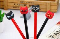 Wholesale funny pen resale online - gel pens Eyeglasses Monster Neutral Pen Funny Eyes Black students stationery Water Pen428