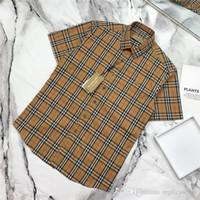 nakış kollu bluz toptan satış-19ss Yeni lüks marka tasarım bbr nakış Logo kısa kollu eğlence bluz Gömlek Erkek Kadın palid Streetwear Tişörtü Açık gömlek