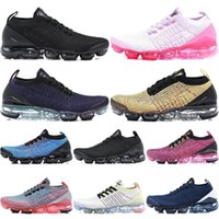 Wholesale knit fabric resale online - Cushion VPM Running Shoes Men Women Classic Triple Black White Trainers Sports Running Fly Knit Designer Walking Shoes