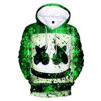 lazer dj venda por atacado-DJ marshmello Selvagem 3D Impressão Camisola Hoodies Cosplay Unisex Hip Hop Lazer Streetwear Hoodies Roupas Trajes