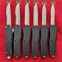 Wholesale wholesale camping tool for sale - 7 inch mini Microtech A07 Combat troodon Damascus Automatic Tactical Knife Camping Pocket EDC Tools Outdoor Rescue Hunting Knives P951M R