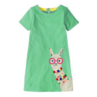 Wholesale halloween costumes for girl child for sale - Group buy Kidsalon Girls Cotton Tunic Dress Designer Kids Clothes Summer Princess Dress Cartoon Alpaca Appliques Children Costume for Kids Dresses