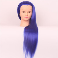 Wholesale heads practice makeup for sale - Group buy 2016 new color makeup full head hair wig practice make up mannequin head dummy head mannequin modeling