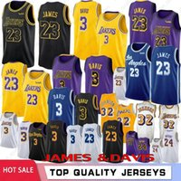 basketball jersey venda por atacado-NCAA 23 LeBron James 3 Universidade Anthony Davis Homens Crianças Basketball Jerseys 24 Kobe Bryant 8 32 Johnson Kyle 0 Kuzma 14 Ingram 2019 Novo