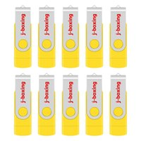 Wholesale 8gb sticks for sale - Group buy Bulk Yellow GB OTG USB Flash Drive Swivel Thumb Drives Memory Stick Pen Storage for Computer Android Smartphone Tablet Macbook