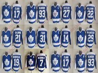 ingrosso pullover di foglie di acero clark-Cheap Toronto Maple Leafs Wendel Clark Doug Gilmour Jersey Borje Salming Darryl Dave Keon Sittler Vintage CCM Stitched Man maglie da hockey