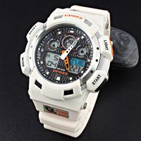 relojes mov al por mayor-alta calidad al por mayor de relojes se sincronizan agua 100M MOV resistentes garantía de 1 año negro azul del deporte de la muñeca reloj E3001WHITE