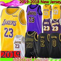 774bbb541 2019 New Los Angeles 23 LeBron James Lakers Jersey Mens 2 Lonzo   Ball 0  Kyle   Kuzma 14 Brandon   Ingram Basketball Jerseys Black city