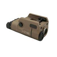 Tactical XC2 Pistol Light LED White Light with Red Dot Laser 200 Lunmens Output Mini LED Gun Light