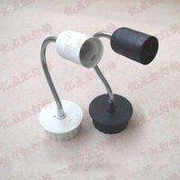 focos de tornillo al por mayor-Soporte universal de E27 con el sostenedor del proyector del LED manguera de montaje en superficie de techo Base de la lámpara ahorro de energía de la lámpara dirección de iluminación ajustable