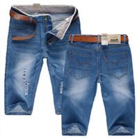 ingrosso jeans di merci di qualità-ZYFGfree 2019 nuovi uomini moda di alta qualità merci per il tempo libero cowboy shorts foro maschio denim shorts / uomo casual jeans g41