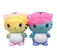 Wholesale tiger doll toy for sale - Group buy New cm squishy toys pu simulation tiger dolls slowly rising adult squishies decompression toy kids squeezing toys