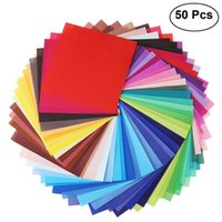 Wholesale art paper sheet for sale - Group buy 50 Sheets Vivid Colors Single Sided Origami Paper Square Sheet for Arts and Crafts Projects cm