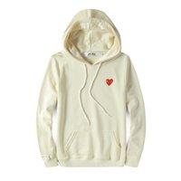 сердца стоят оптовых-Мужские куртки дизайнеров C-D-G рубашка балахон от красного сердца белых Commes деза хлопка Garcons капюшон случайной ветровка куртка зимних пальто