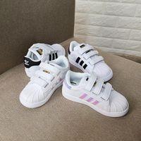 crianças sapatos de couro para menina venda por atacado-2019 nova Marca Shell Cabeça menino meninas Sapatilhas Superstar crianças Crianças Sapatos new stan shoes moda smith sneakers esporte de couro tênis