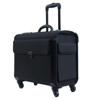 bagagem bagagem venda por atacado-18 polegada Oxford Rolando Bagagem Spinner aeromoça Mala Rodas Cabine Trolley Piloto Sacos de Viagem laptop bag