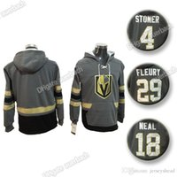 kapüşonlu sweatshirt hokeyi toptan satış-Vegas Altın Şövalyeleri 29 Marc-Andre Fleury Jersey 18 James Neal Şapka Hokeyi Hoodie Kapşonlu Sweatshirt toptan