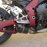 motocicleta escape yamaha venda por atacado-YAMAHA R1 modificado escape tubo de escape da motocicleta FLAME