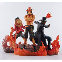 Wholesale luffy toys for sale - Group buy 3pcs set cm One Piece DX Luffy Ace Brotherhood Anime Cartoon Years Later PVC Action Figure Toys Cartoon Battle Ver Model Dolls