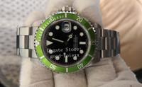 vintages saatler toptan satış-Vintage Saatler Erkek Otomatik 2813 Antika Izle Erkekler Yeşil Siyah Alaşım Çerçeve Çelik 50th Yıldönümü 16610LV BP Fabrika Dalış Saatı