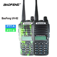 Wholesale uhf cb two way radios resale online - Orginal Baofeng UV Walkie Talkie UV Portable Two way Radio Dual PTT Ham CB Radio Station VHF UHF UV82 Hunting Transceiver