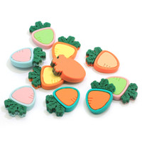Wholesale vegetable charms for sale - Group buy Factory New Arrive Radish Pineapple Resin Slime Charms Cabochons Flatback Carrots Pineapple Vegetable Fruit Slime Charms