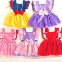 Wholesale toddler girl cute clothing resale online - 12 Colors Baby Girl Bibs Toddler Cute bib dress Burp Cloths Infant Waterproof Smock Princess Cosplay Apron dresses clothing M2089