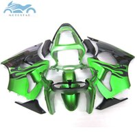 Wholesale kawasaki zx6r fairings parts online - Free Customize fairing kit for KAWASAKI ninja ZX6R green black ZX R body fairing parts