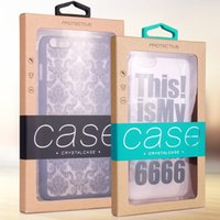 Wholesale retail box packaging cover resale online - Retail Packaging Box Karft Paper Package Box phone case package for Phone Case Cover for iPhone plus Samsung note