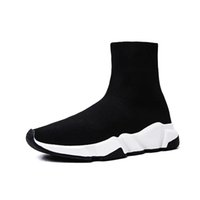 Wholesale 2019 Luxury Brand Sock Shoes Men Women Boots White Oreo Balck Red Sports Sneakers Fashion Casual Designer Shoes Size