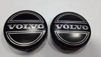 volvo rozeti toptan satış-100 adet 64mm siyah gri araba tekerlek merkezi kapaklar Hub cap Jantlar kapak amblem rozeti Volvo S60 S80L XC60, 3546923 için Fit araba styling