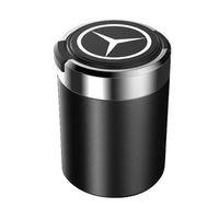 oto moda aksesuarları toptan satış-Moda Araba Küllük Çöp Sikke Saklama Kupası Konteyner Mercedes Benz için LED Işık Puro Kül Tablası Araba Bardak Tutucu Oto aksesuarları