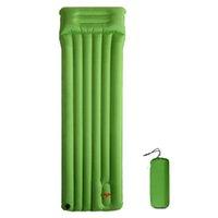 randonnée tapis de couchage achat en gros de-Matelas pneumatique de gonflage extérieur de matelas de couchage avec coussin gonflable pour tapis de camping Tapis de pique-nique pour randonnées pédestres