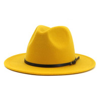Wholesale yellow hat woman for sale - Group buy Women Fedoras Hats Wide Brim Outdoor Caps Retro Western Vaquero Faux Suede Cowboy Cowgirl Leisure Sunshade Hat