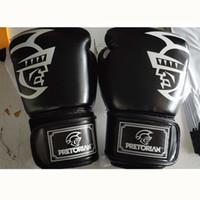 cordón para hombre al por mayor-10 1216OZ PRETORIAN Gemelos Muay Thai PU guantes de boxeo de cuero Hombres Mujeres Entrenamiento MMA Grant Box Guantes con bolso de lazo
