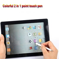 Wholesale pointed stylus pen resale online - 100pcs Universal High quality in Capacitive Touch Screen Stylus pen with Ball Point Pen for Cellphone Mobile Tablet PC