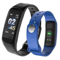 xiaomi fitbit toptan satış-Apple iphone için Akıllı Bilezik İzle 1.44 Inç Renkli Ekran Kalp Hızı Kan Basıncı İzleme IP68 Su Geçirmez pk xiaomi band 3 fitbit
