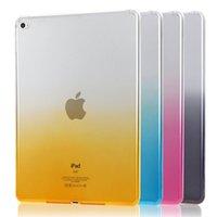 ipad klarer silikonkasten großhandel-Dünner Farbverlauf Fall klar weiches TPU transparentes Gel Silikon Bumper Tab Fall für iPad Air Pro Mini 1 2 3 4 9,7 12,9