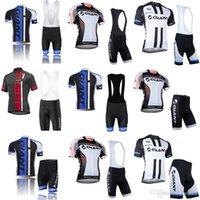 équipement de vêtements de plein air achat en gros de-GIANT cyclisme Short manches courtes maillot (bavette) définit 2018 hommes nouveaux vêtements de sport de plein air vélo vêtements élégant équipement de cyclisme c2905